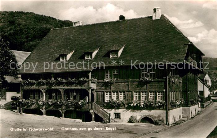 AK / Ansichtskarte Glottertal Gasthaus zum goldenen Engel Kat. Glottertal Schwarzwald