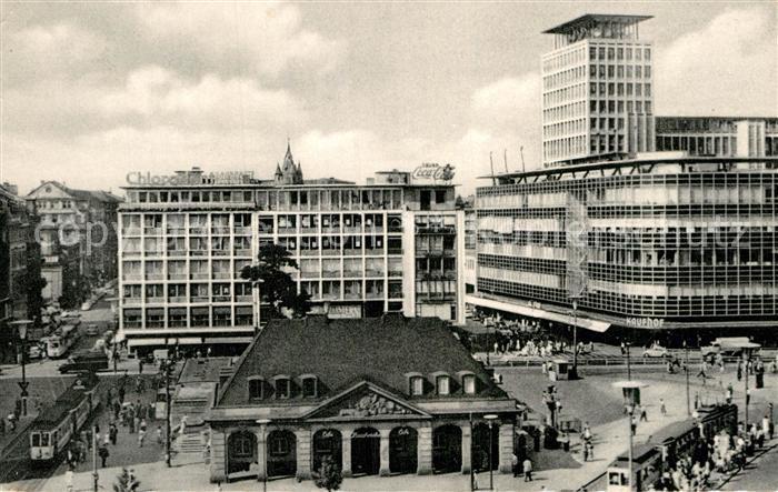 AK / Ansichtskarte Frankfurt Main Hauptwache mit Fernmeldehochhaus Kat. Frankfurt am Main