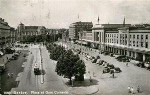 AK / Ansichtskarte Geneve GE Place et Gare Cornavin Kat. Geneve