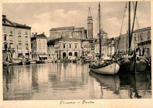 AK / Ansichtskarte Pirano Porto Hafen Fischerboote Kat. Slowenien