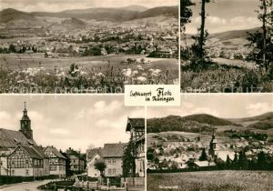 AK / Ansichtskarte Floh Seligenthal Panorama Teilansicht An der Kirche  Kat. Floh Seligenthal