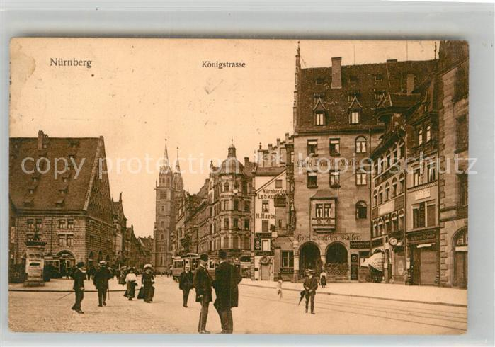 AK / Ansichtskarte Nuernberg Koenigstrasse Kat. Nuernberg