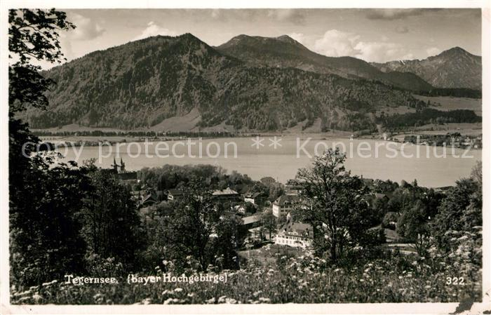 AK / Ansichtskarte Tegernsee Panorama Alpen Kat. Tegernsee