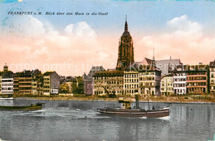 7355fb32913d23 AK   Ansichtskarte Frankfurt Main Dom Panorama Schiff Kat. Frankfurt am Main  0