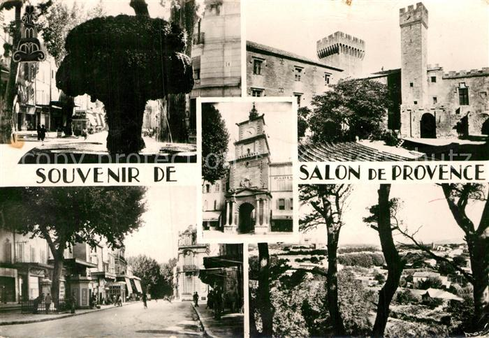 AK / Ansichtskarte Salon de Provence Moosbrunnen Bourg Neuf Strassenpartie Panorama  Kat. Salon de Provence