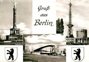 AK / Ansichtskarte Berlin Siegessaeule Kongresshalle Funkturm Wappen Kat. Berlin