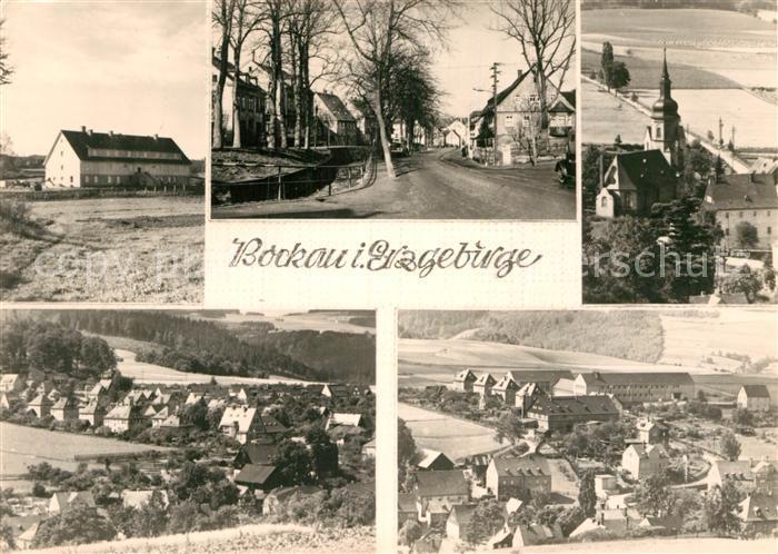 AK / Ansichtskarte Bockau Erzgebirgskreis Teilansicht Kirche  Kat. Bockau