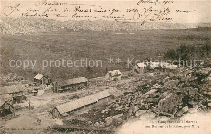 AK / Ansichtskarte Milly la Foret Campement de Bucherons aux Rochers de la Reine  Kat. Milly la Foret