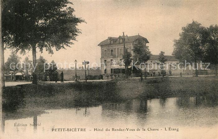 AK / Ansichtskarte Clamart Petit Bicetre Hotel du Rendez de la Chasse Etang  Kat. Clamart