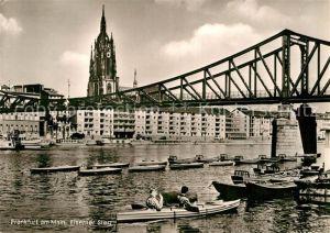 AK / Ansichtskarte Frankfurt Main Eiserner Steg  Kat. Frankfurt am Main