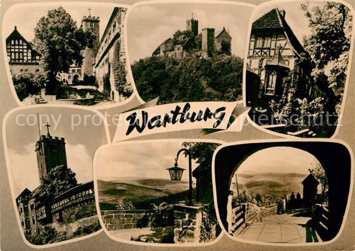 AK / Ansichtskarte Wartburg Eisenach Burg Teilansichten Kat. Eisenach