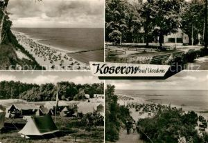 AK / Ansichtskarte Koserow Ostseebad Usedom Strand Zeltplatz Park Strand Kat. Koserow