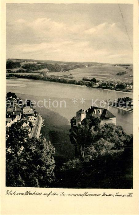 AK / Ansichtskarte Passau Blick vom Oberhaus  Kat. Passau