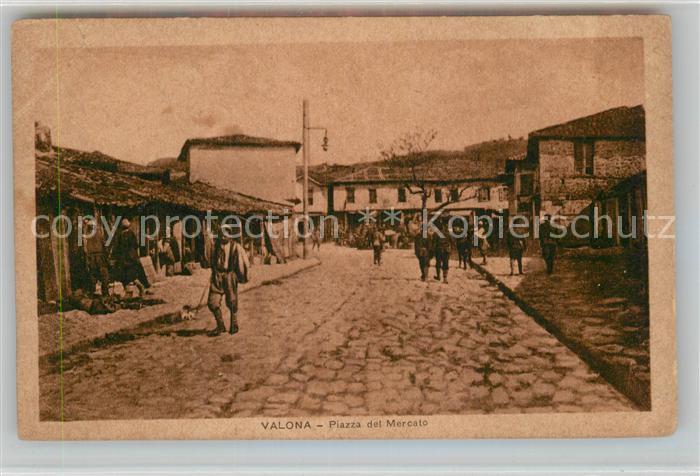 AK / Ansichtskarte Valona Piazza del Mercato Kat. Albanien