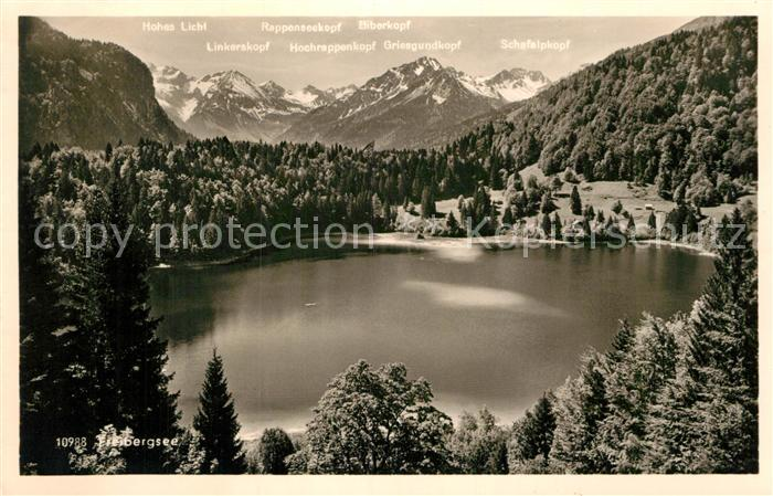 AK / Ansichtskarte Freibergsee Landschaftspanorama Alpen Kat. Oberstdorf