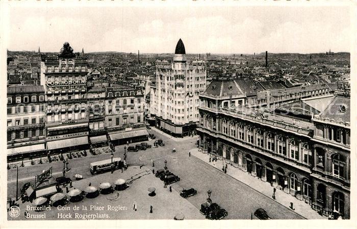 AK / Ansichtskarte Bruxelles Bruessel Coin de la Place Rogier Kat.