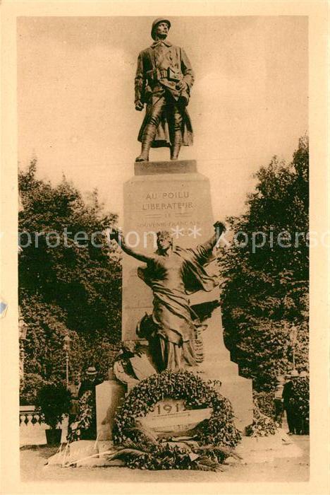 AK / Ansichtskarte Metz Moselle Monument du Poilu Statue de Guillaume Ier Kat. Metz
