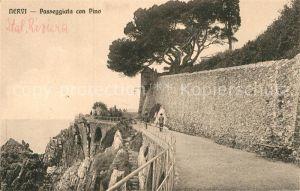 AK / Ansichtskarte Nervi Passeggiata con Pino