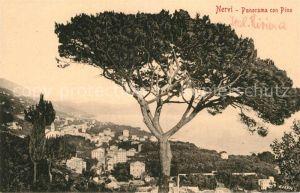 AK / Ansichtskarte Nervi Panorama con Pino