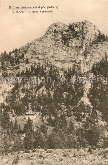 AK / Ansichtskarte Oberaudorf Bruennsteinhaus mit Gipfel Bayerische Voralpen Kat. Oberaudorf