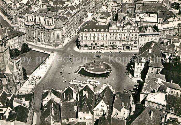 AK / Ansichtskarte Praha Prahy Prague Staromestske namesti Altstaedter Ring Fliegeraufnahme Kat. Praha