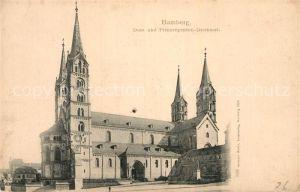 AK / Ansichtskarte Bamberg Dom und Prinzregenten Denkmal Kat. Bamberg