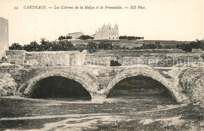 AK / Ansichtskarte Carthage Karthago Les Citernes de la Malga et la Primatiale Kat. Tunis