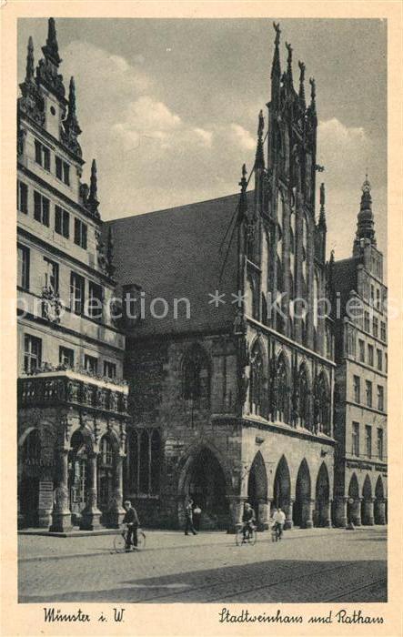 AK / Ansichtskarte Muenster Westfalen Stadtweinhaus und Rathaus Kat. Muenster