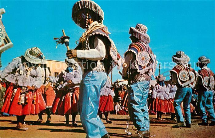AK / Ansichtskarte Bolivien Baile Tipico LLamerada Kat. Bolivien
