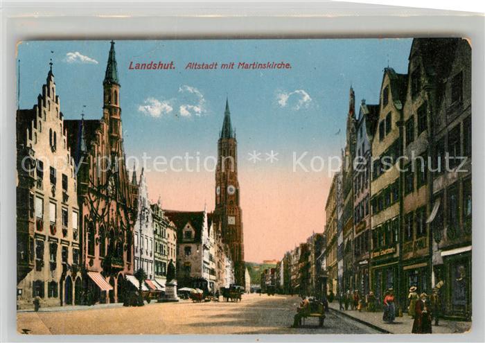 AK / Ansichtskarte Landshut Isar Altstadt Martinskirche  Kat. Landshut