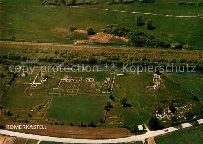 AK / Ansichtskarte Eining Fliegeraufnahme Roemerkastell Abusina Kat. Neustadt a.d.Donau