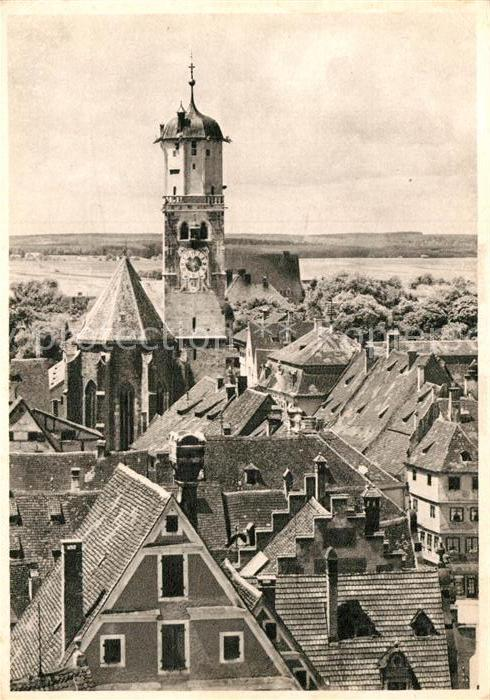 AK / Ansichtskarte Memmingen Ortsmotiv mit St Martins Kirche Kat. Memmingen