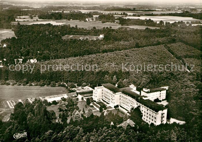 AK / Ansichtskarte Handorf Muenster Fachklinik Haus Hornisgrinde Fliegeraufnahme Kat. Muenster