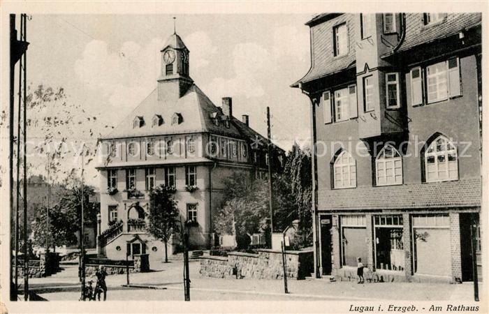 AK / Ansichtskarte Lugau Erzgebirge Am Rathaus Kat. Lugau Erzgebirge