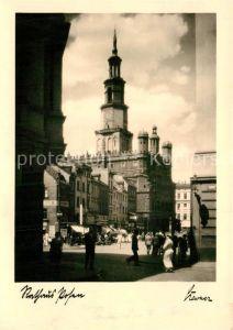 AK / Ansichtskarte Posen Poznan Rathaus Kat. Poznan