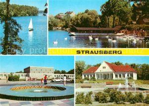 AK / Ansichtskarte Strausberg Brandenburg Am Straus See Haus der NVA Park der Solidaritaet Kat. Strausberg