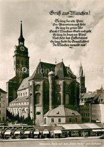 AK / Ansichtskarte Muenchen Blick auf den Alten Peter und Rathaus Kat. Muenchen