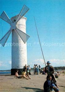 AK / Ansichtskarte Swinoujscie Swinemuende Windmuehle Strandleben