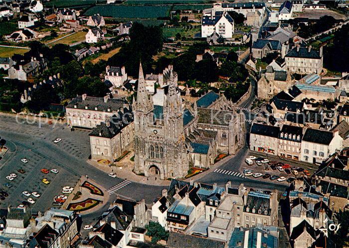 AK / Ansichtskarte Saint Pol de Leon Fliegeraufnahme Cathedrale Palais episcopal Kat. Saint Pol de Leon