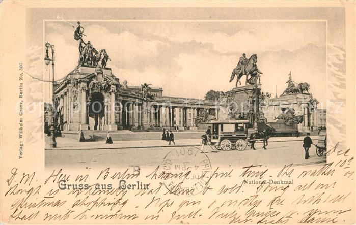 AK / Ansichtskarte Berlin National Denkmal Kat. Berlin