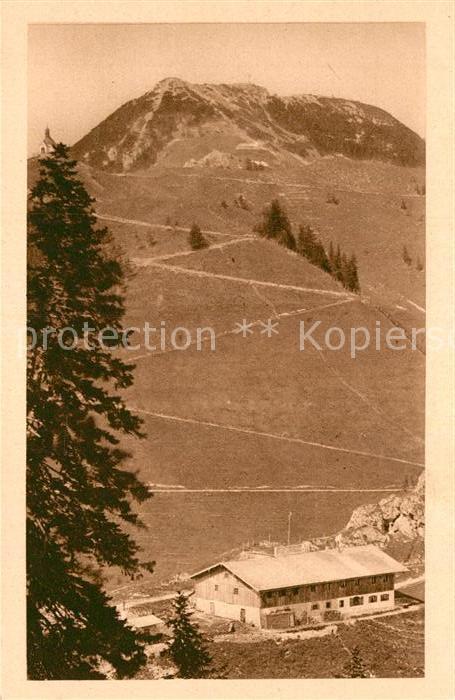 AK / Ansichtskarte Wallberg Unterkunftshaus  Kat. Tegernsee