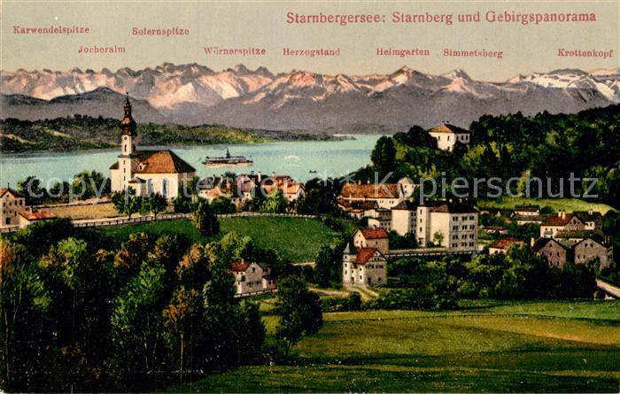 AK / Ansichtskarte Starnberg Starnbergersee Gebirgspanorama Kat. Starnberg