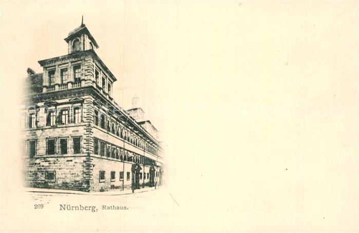 AK / Ansichtskarte Nuernberg Rathaus Kat. Nuernberg