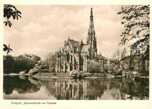 AK / Ansichtskarte Stuttgart Johanneskirche am Feuersee Kat. Stuttgart