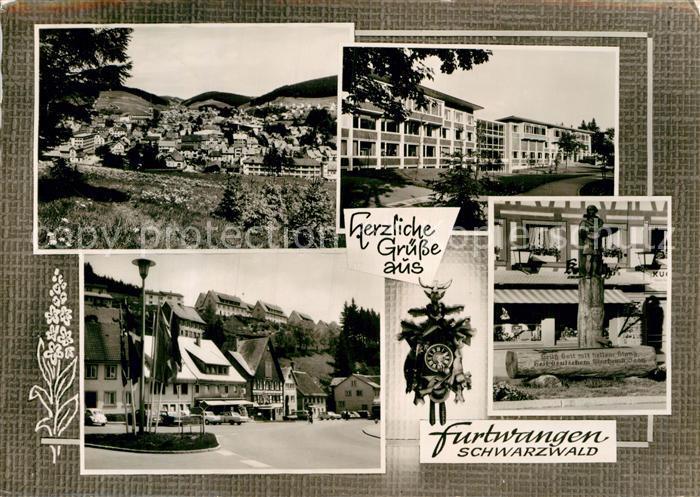 AK / Ansichtskarte Furtwangen Stadtblick Marktplatz Brunnen Kat. Furtwangen im Schwarzwald