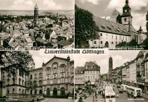 AK / Ansichtskarte Goettingen Niedersachsen Stadtblick Marienkirche mit Kommende Auditorium Weenderstrasse Kat. Goettingen
