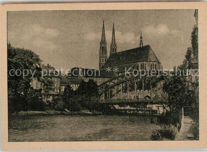 AK / Ansichtskarte Goerlitz Niederschlesien Altstadtbruecke mit Peterskirche Kat. Zgorzelec