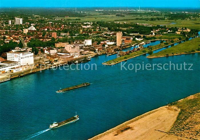 AK / Ansichtskarte Wesel Rhein Fliegeraufnahme Muendung der Lippe in den Rhein Kat. Wesel