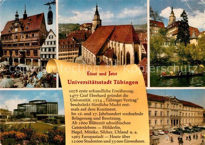 AK / Ansichtskarte Tuebingen Universitaetsstadt  Kat. Tuebingen