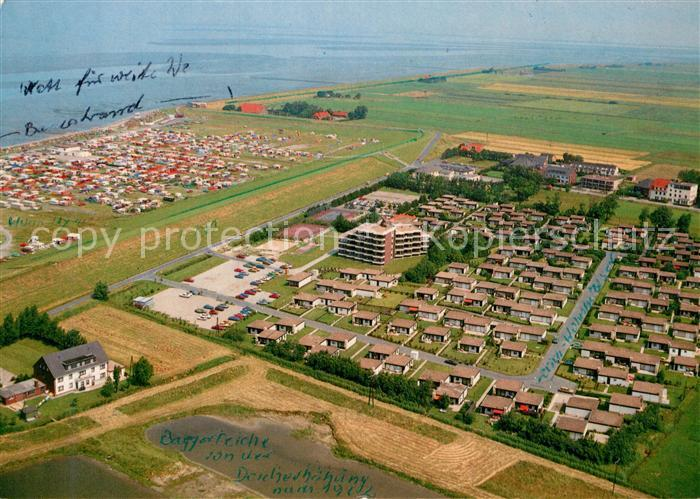 AK / Ansichtskarte Tossens Nordseebad Fliegeraufnahme Wohnpark Halbinsel Butjadingen Kat. Butjadingen